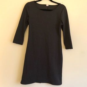 Old Navy Gray 3/4 Sleeve Dress Size Small